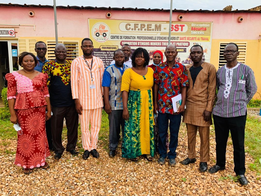 Délivrance de l'autorisation définitive d'ouverture du CFPEM-SST : une délégation de la Direction régionale de la jeunesse et de la promotion de l'entrepreneuriat des jeunes en visite au CFPEM-SST